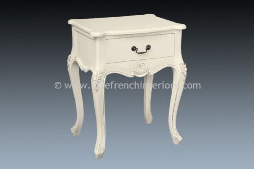 Candice 1 Drawer Bedside in Antique White